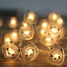 amazon com battery operated string lights cat 20 count with