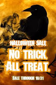 Halloween Sale Image Template No Trick All Treat Halloween Sale Pixteller
