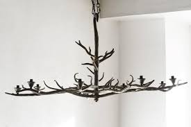 tree branch chandelier handmade tree branch chandelier steel at 1stdibs