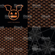background logo pattern pumpkin bat vector illustration stock