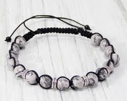 silver bracelet with stones images Stone bracelet etsy jpg