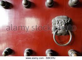 foo dog door knocker keeping guard at a buddhist temple the large bronze foo dog door