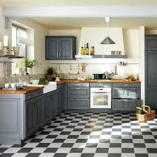 cuisine meubles gris sol damier n b avec meuble gris cuisine country