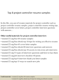 Controller Resume Examples by Top8projectcontrollerresumesamples 150331221733 Conversion Gate01 Thumbnail 4 Jpg Cb U003d1427858300
