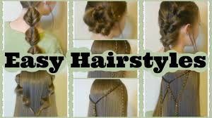 7 quick and easy hairstyles part 2 youtube
