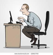 Computer Desk Posture Bad Posture Stock Images Royalty Free Images U0026 Vectors Shutterstock