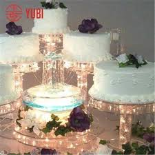 acrylic cake stands 5 tier lighted acrylic wedding cake stand buy 5 tier acrylic