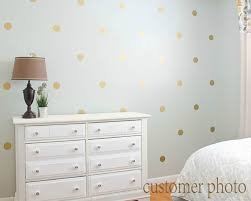 metallic wall decal etsy gold polka dots wall decal dot metallic golden vinyl