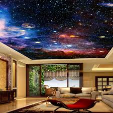 online shop custom photo wallpaper universe star sky living room