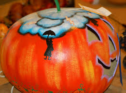 Halloween Pumpkin Lantern - safety tips for carving pumpkins and displaying them