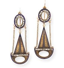 swag earrings gold and garnet iberian pendeloque earrings wanton