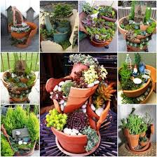 Potted Garden Ideas Mini Garden Ideas For Your Broken Pots
