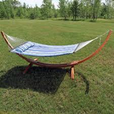 arc wood hammock stand
