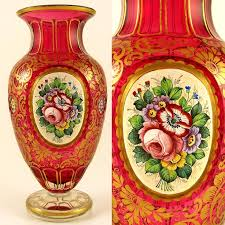 Antique Cranberry Glass Vase 213 Best Cranberry Glass Images On Pinterest Cranberry Glass