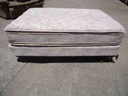 50 used full size mattress box spring and metal frame for sale
