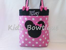 minnie mouse monogram monogrammed disney minnie mouse tote bag