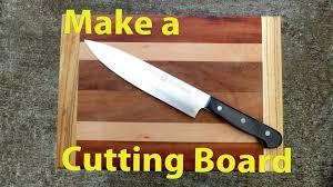 how to make a wood cutting board woodworkweb youtube