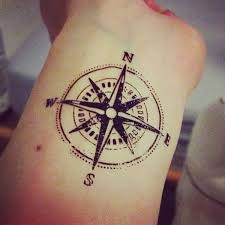 different sides compass tattoo tattoomagz