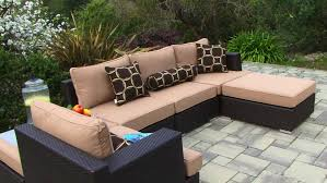 Sectional Patio Furniture Sets - niko 6 piece sectional patio set by sirio youtube