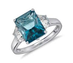 london blue topaz engagement ring london blue topaz and white topaz radiant cut ring in sterling