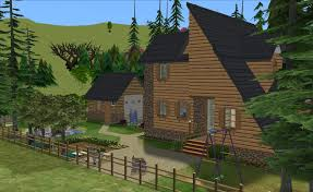 Modified A Frame House Mod The Sims A Modified A Frame Elliott U0027s No Cc