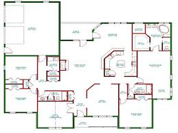 1 Storey Floor Plan by Five Bedroom House Plans Open Floor Plans One Story Crtable
