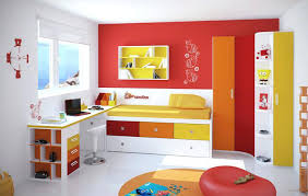 3 Way Bunk Bed Colorful Kids Furniture Colorful Built In Kid Bunk Bed With Extra