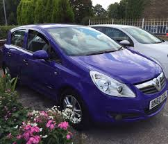 opel purple limited model vauxhall corsa 1 2 5door purple with full dealer