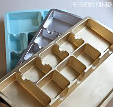 Pretty Desk Organizers Spray Paint Drawer Organizers In Chic Metallics Paint It Monday