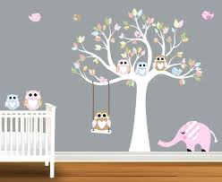 Nursery Owl Wall Decals Owl Wall Decals Happyhippy Co
