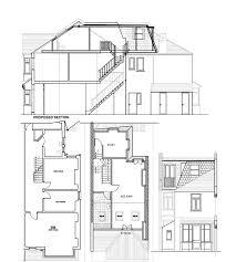 terraced house loft conversion floor plan victorian l shape mansard lh dormer extension layout pinterest