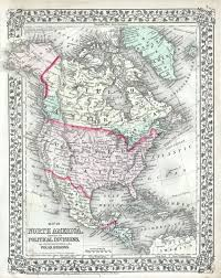 North America State Map by File 1874 Mitchell Map Of North America The United States