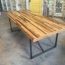 Rustic Farmhouse Dining Room Tables The Bruno Table Industrial Modern Farmhouse Style Table Made From