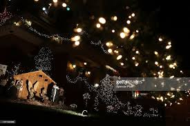 christmas lights adorn business in brooklyn new york photos and