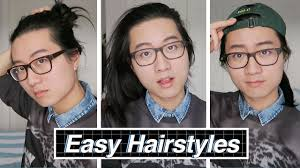 easy to care for hairstyles easy medium long hairstyles mens hair man bun youtube