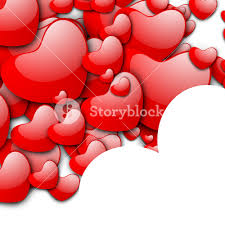 valentines day love background with red hearts on white royalty