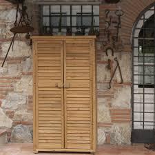 armadi in legno per esterni armadio in legno da esterno 82x42x160 solido jarsya accessori
