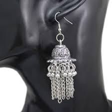 silver dangle earrings for prom ethnic bali jhumka jhumki silver bridal concho mexico drop