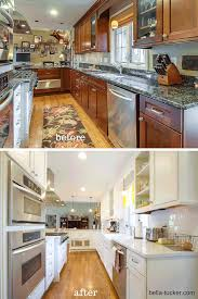 Kitchen Cabinets Before And After Painting Painting Kitchen Cabinets White Before And After