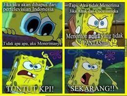 Meme Comic Indonesia Spongebob - meme yang menyindir penghapusan spongebob oleh kpi