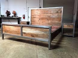 Wood And Metal Bed Frames Headboards Ideas Metal Wood Industrial Search