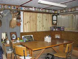 man cave cabin and antlers
