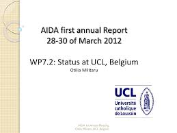 ppt aida first annual report 28 30 of march 2012 wp7 2 status