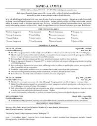 Financial Planner Resume Sample by Financial Planning And Analysis Resume Samples Of Resumes