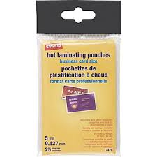 Business Card Luggage Tags Laminated Staples 5 Mil Pouch Business Card 25 Pack 17470 Staples