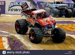 new monster jam trucks new orleans la usa 20th feb 2016 barbarian monster truck in