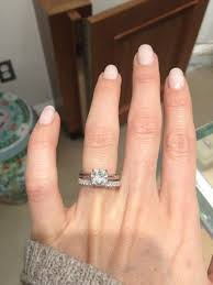 solitaire engagement ring with wedding band show me your solitaire engagement ring w wedding band