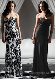black and white bridesmaid dresses from the dessy bridesmaid dress