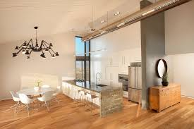 Sloped Ceiling Lighting Amazing Exposed Duct Work Family Room Contemporary With Sloped