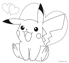 pokemon free printable coloring pages printable pikachu coloring pages for kids cool2bkids